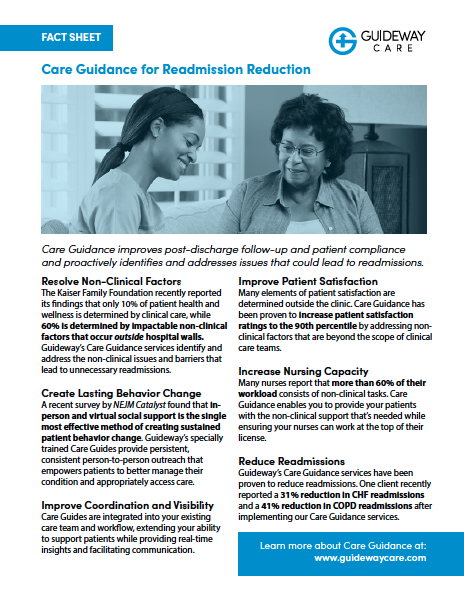 Care Guidance for Readmission Reduction Fact Sheet
